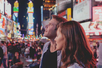 Couple in Times Square_ New York
