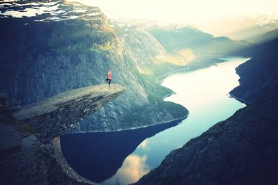 Unsplash_Girl on rock_Trolltunga_ Norway